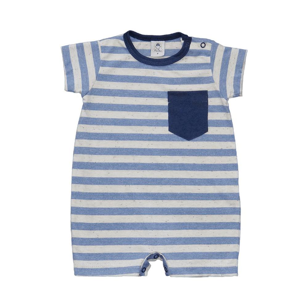 Macacão Bebê Curto Listrado  - Piu Blu