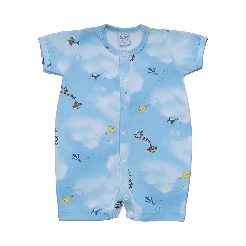 Macacão Bebê Curto Pipas  - Piu Blu
