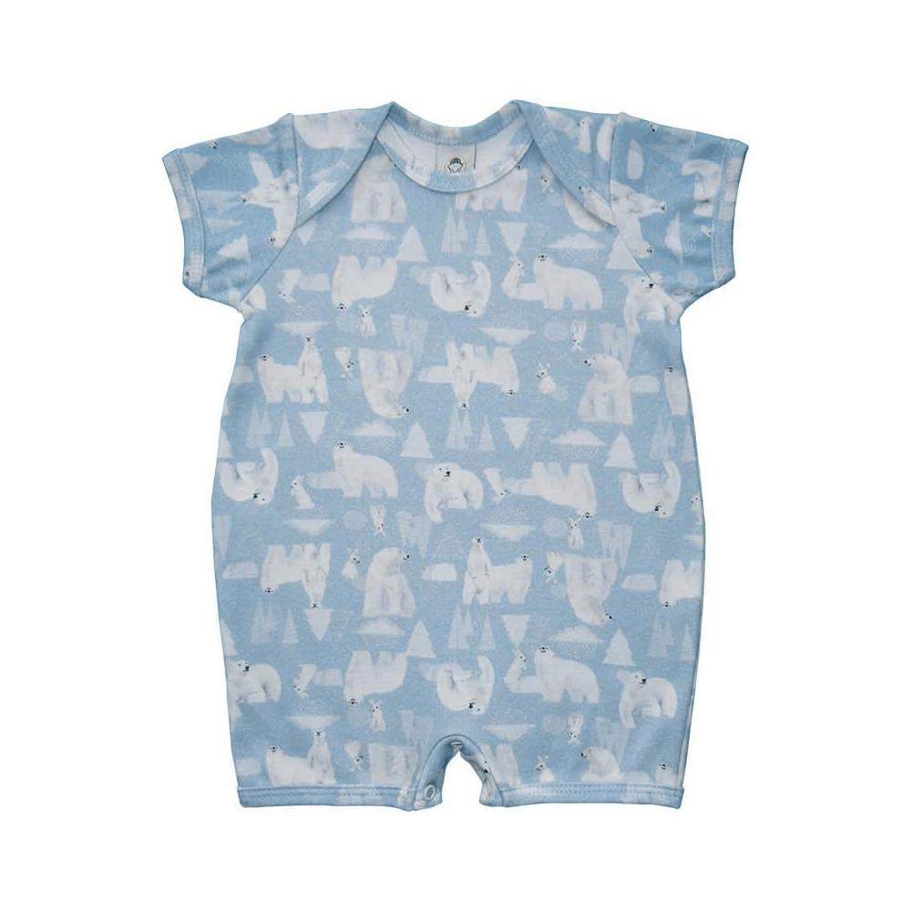Macacão Bebê Curto Urso Polar  - Piu Blu