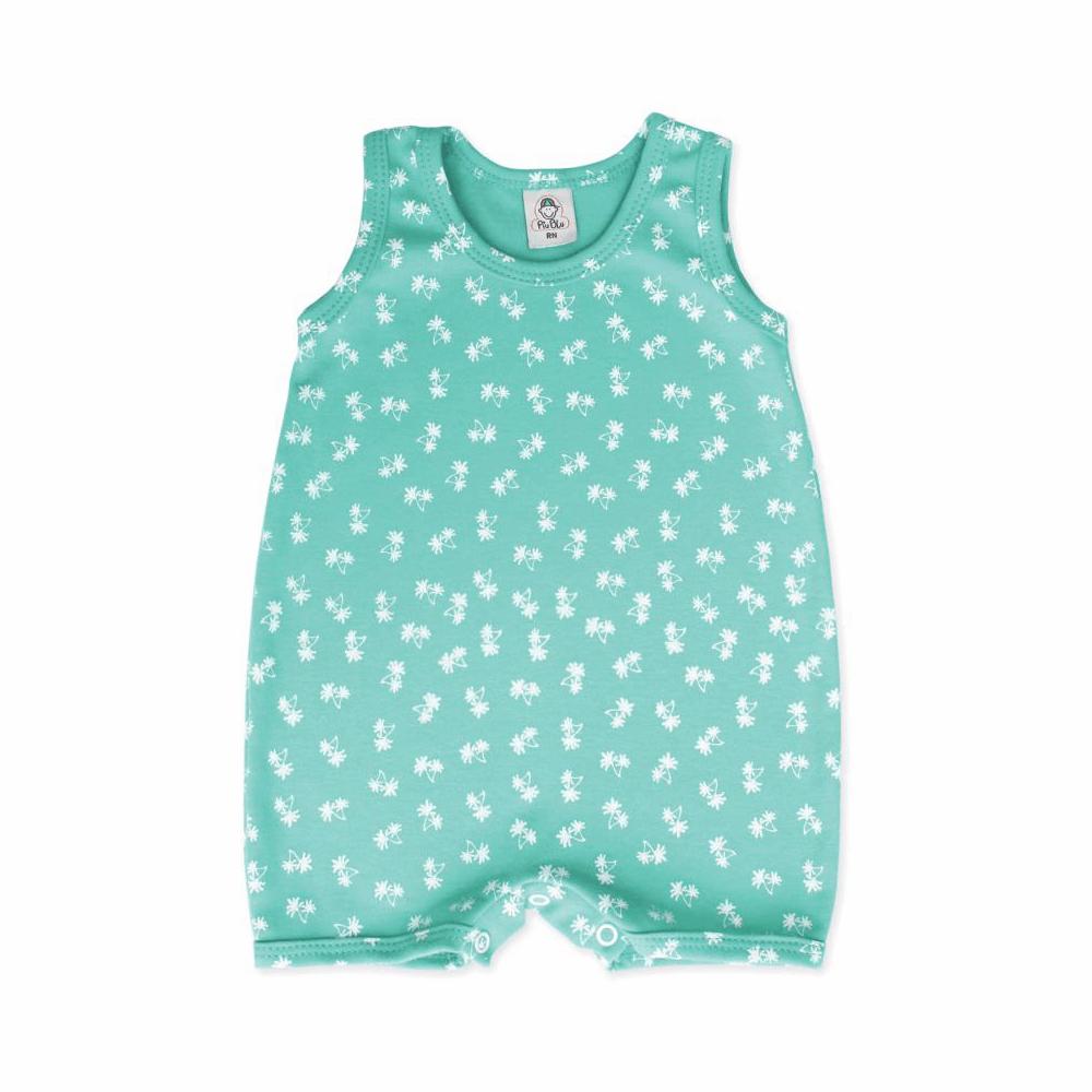 Macacão Bebê Curto Palmeira  - Piu Blu