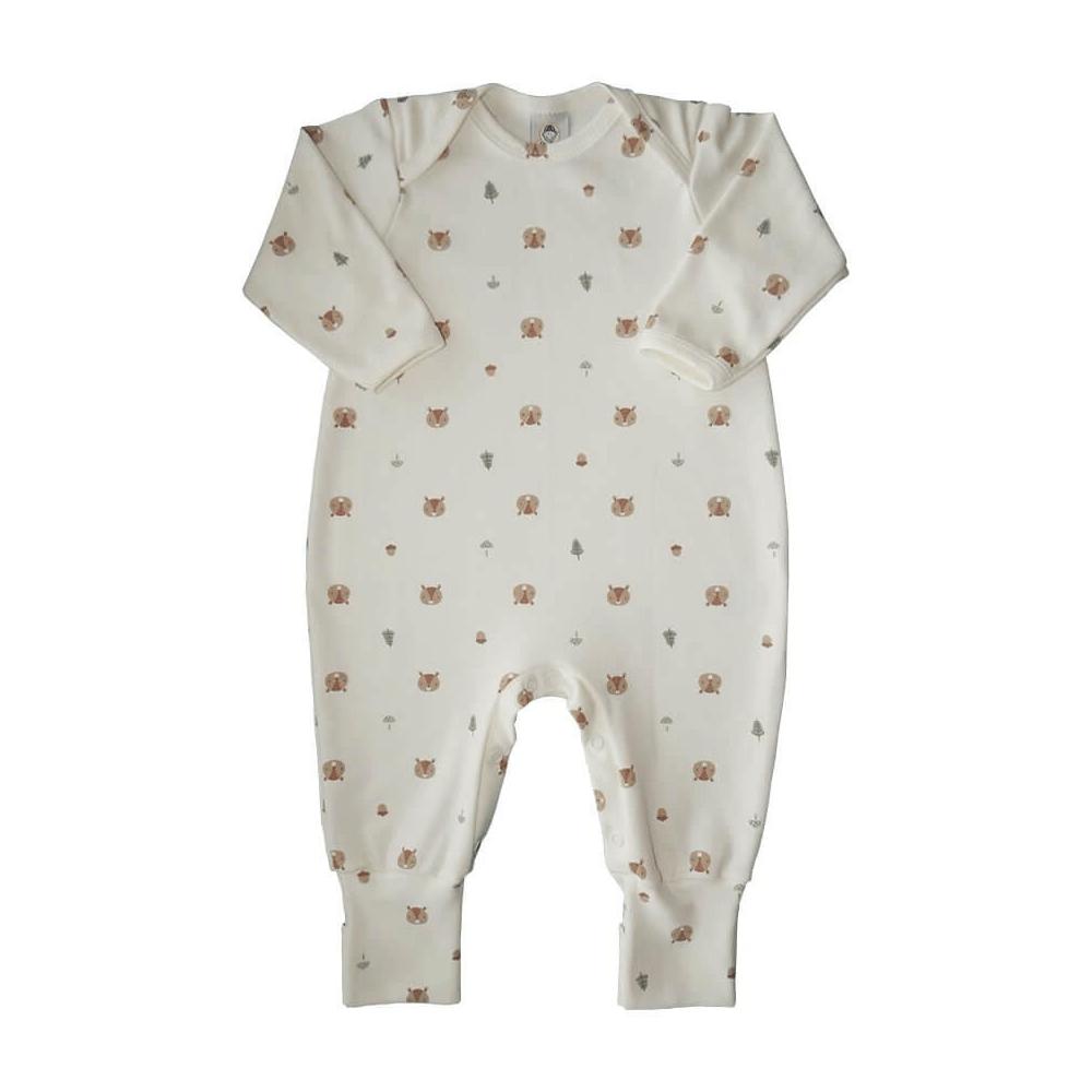 Macacão Bebê Longo Pezinho Reversível Esquilinho  - Piu Blu