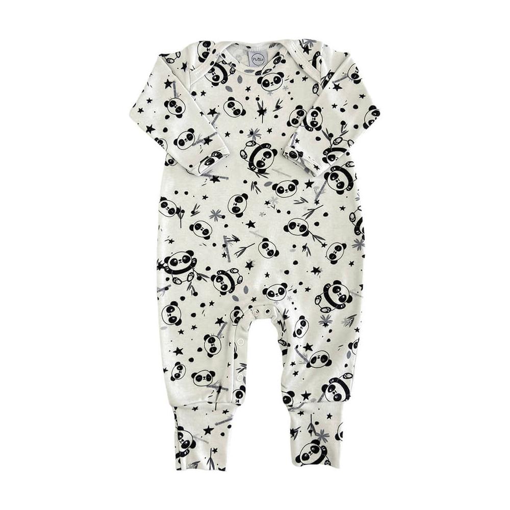 Macacão Bebê Pezinho Reversível Panda  - Piu Blu