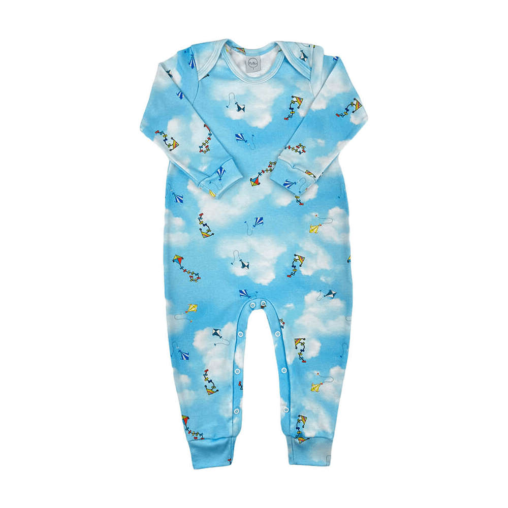Macacão Bebê Pipas - 1 ao 3  - Piu Blu