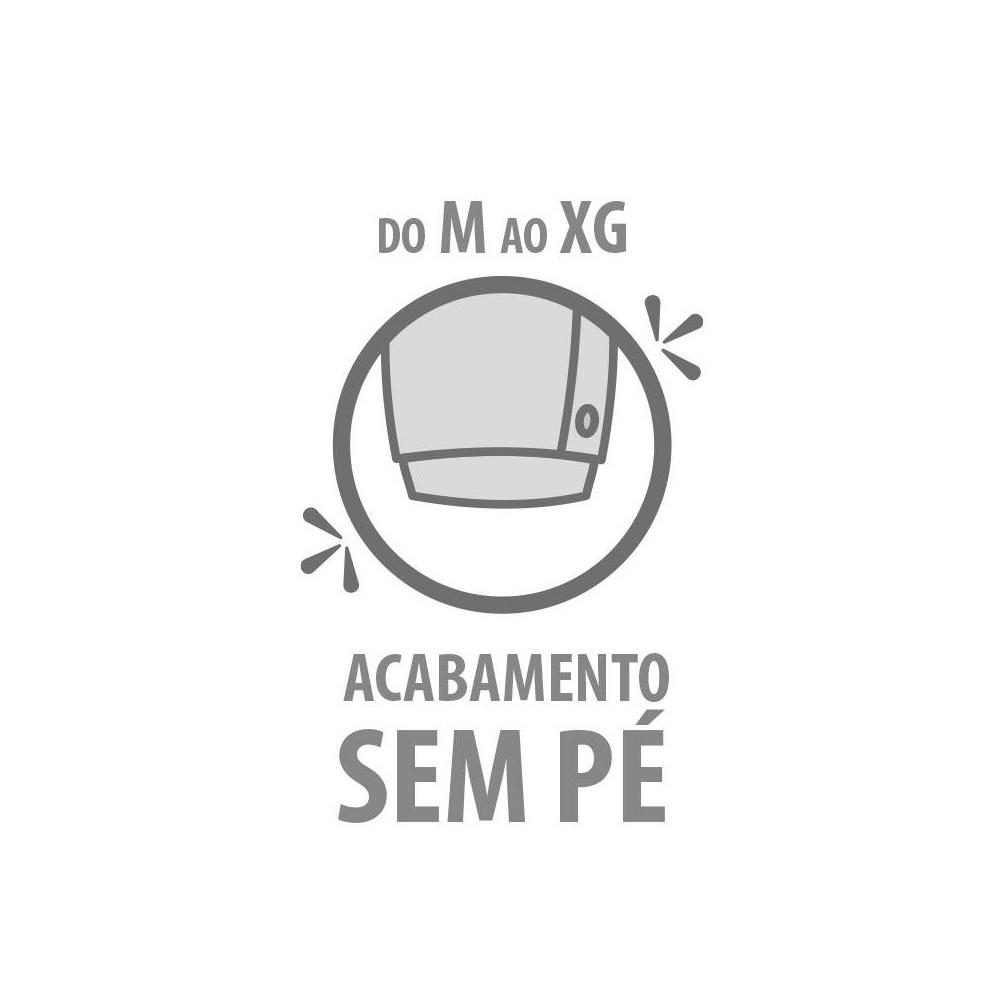 Macacão Bebê Plush Oncinha - Tamanhos RN e P com pezinho; M, G e XG sem pezinho  - Piu Blu