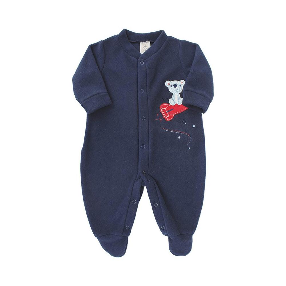 Macacão Bebê Longo Soft Foguete  - Piu Blu