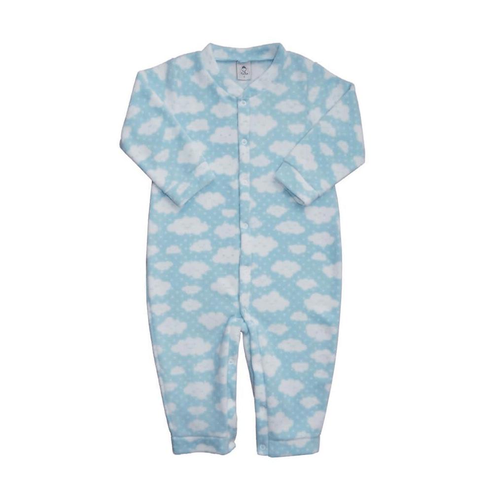 Macacão Bebê Soft Nuvens Azul 1 ao 3 Soft  - Piu Blu
