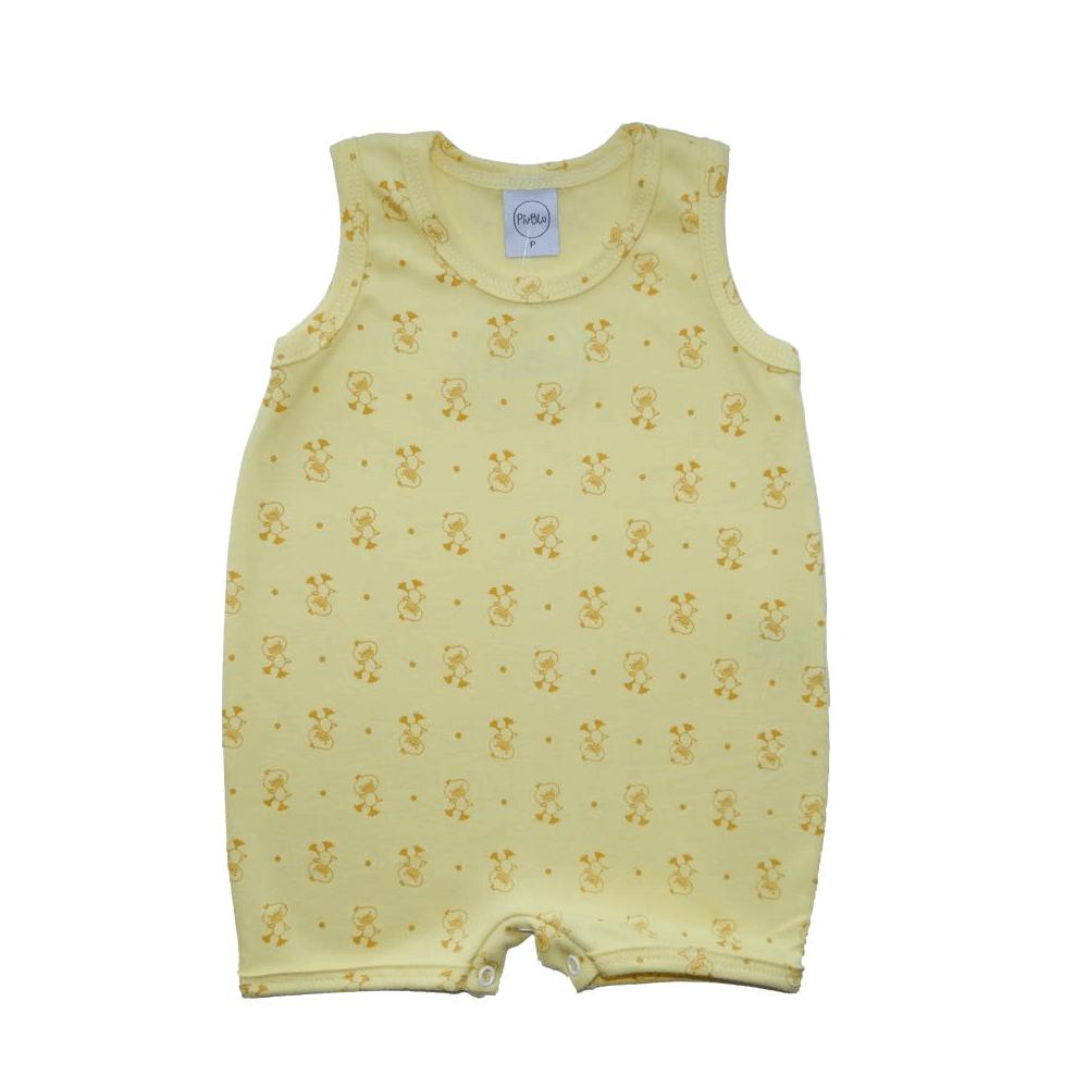 Macacão Bebê Curto Patinhos  - Piu Blu