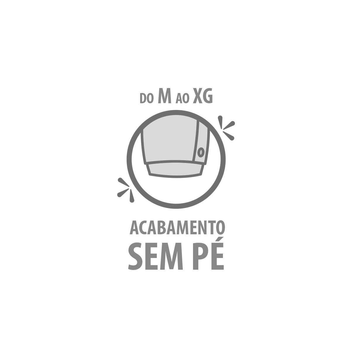 Macacão Botão Lateral Raposinha - Tamanhos RN e P com pezinho; M, G e XG sem pezinho  - Piu Blu
