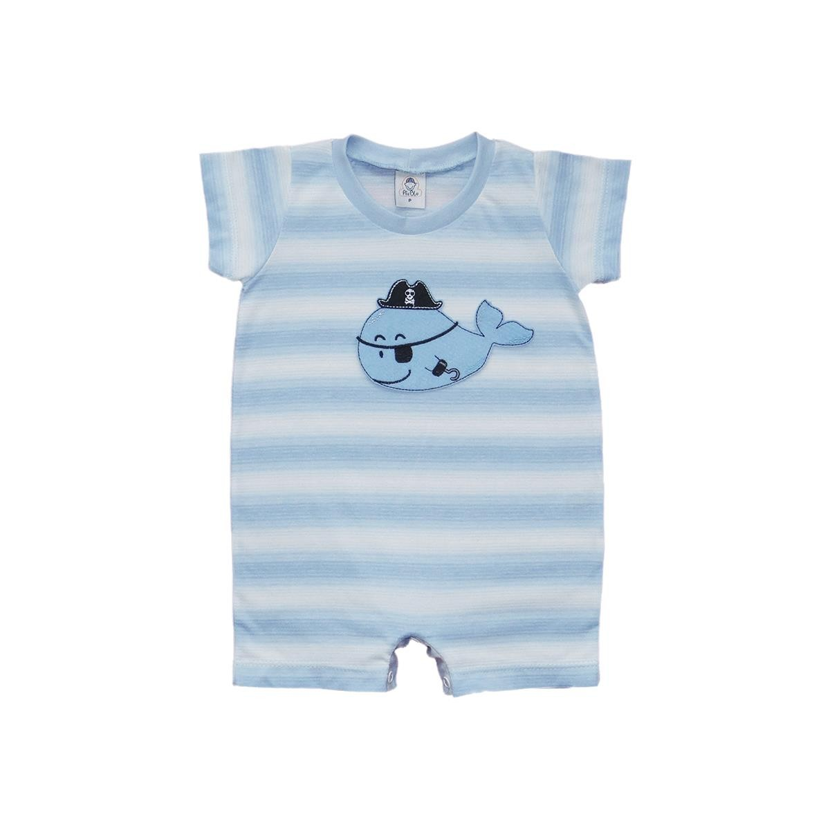 Macacão Curto Baleia  - Piu Blu