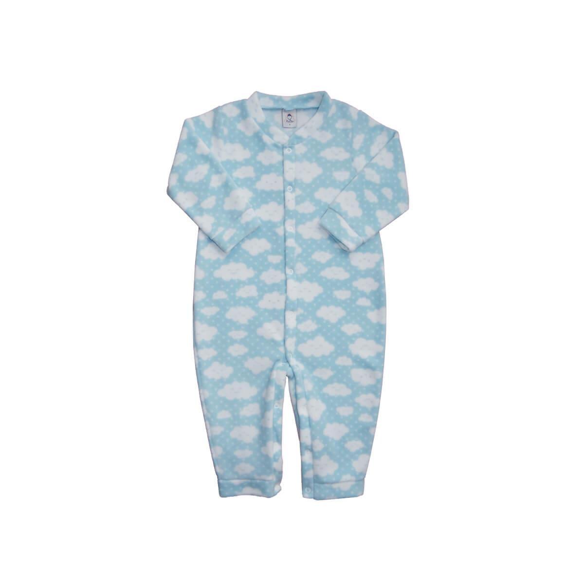 Macacão Soft Nuvens Azul 1 ao 3 Soft  - Piu Blu
