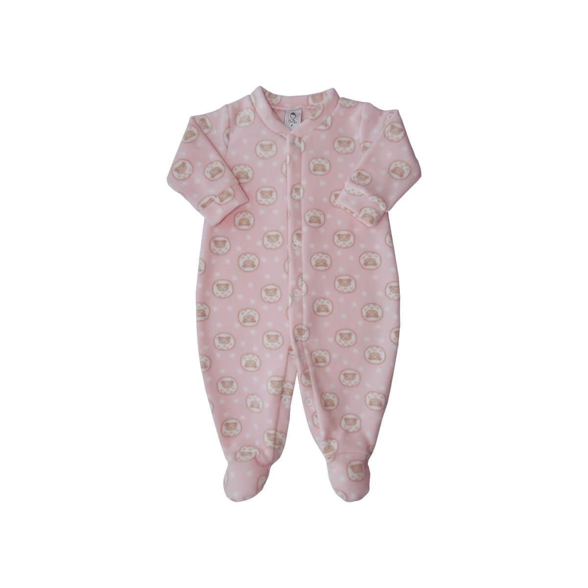 Macacão Soft Ovelhinha Rosa Soft  - Piu Blu