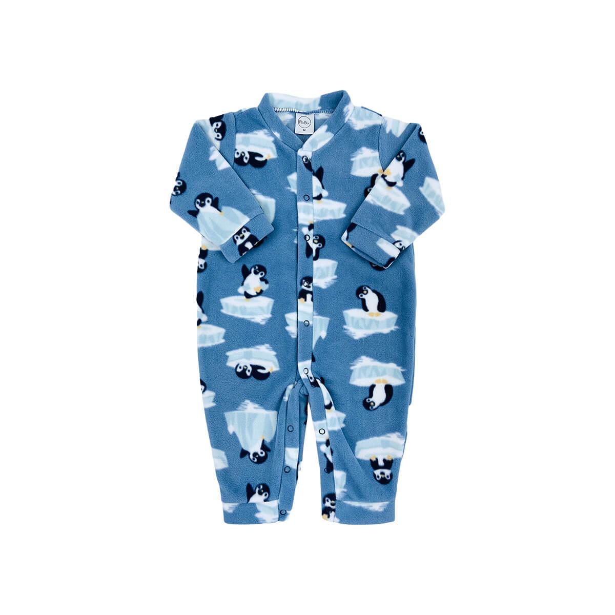 Macacão Bebê Soft Pinguim - 1 ao 3