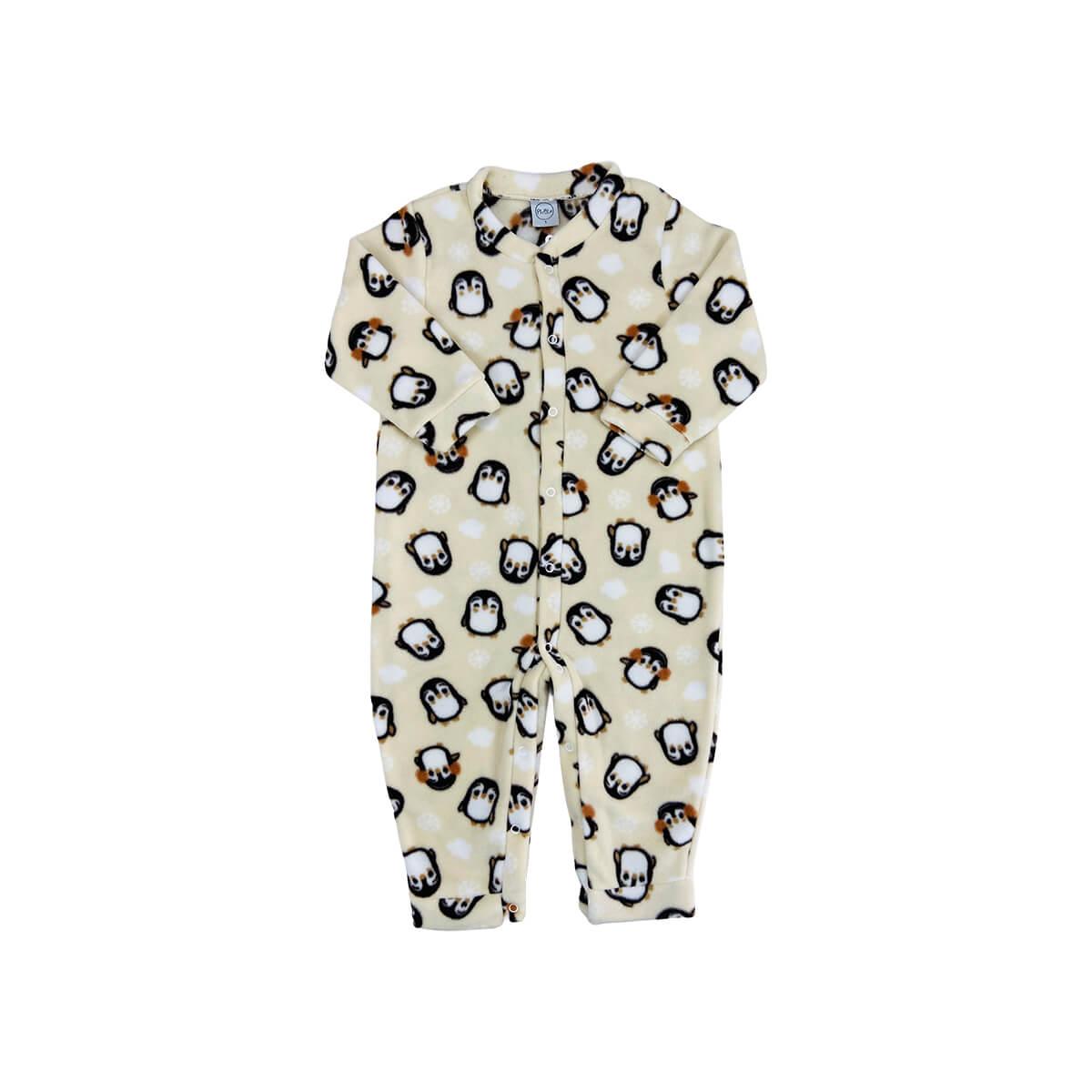 Macacão Soft Pinguim - 1 ao 3 Soft