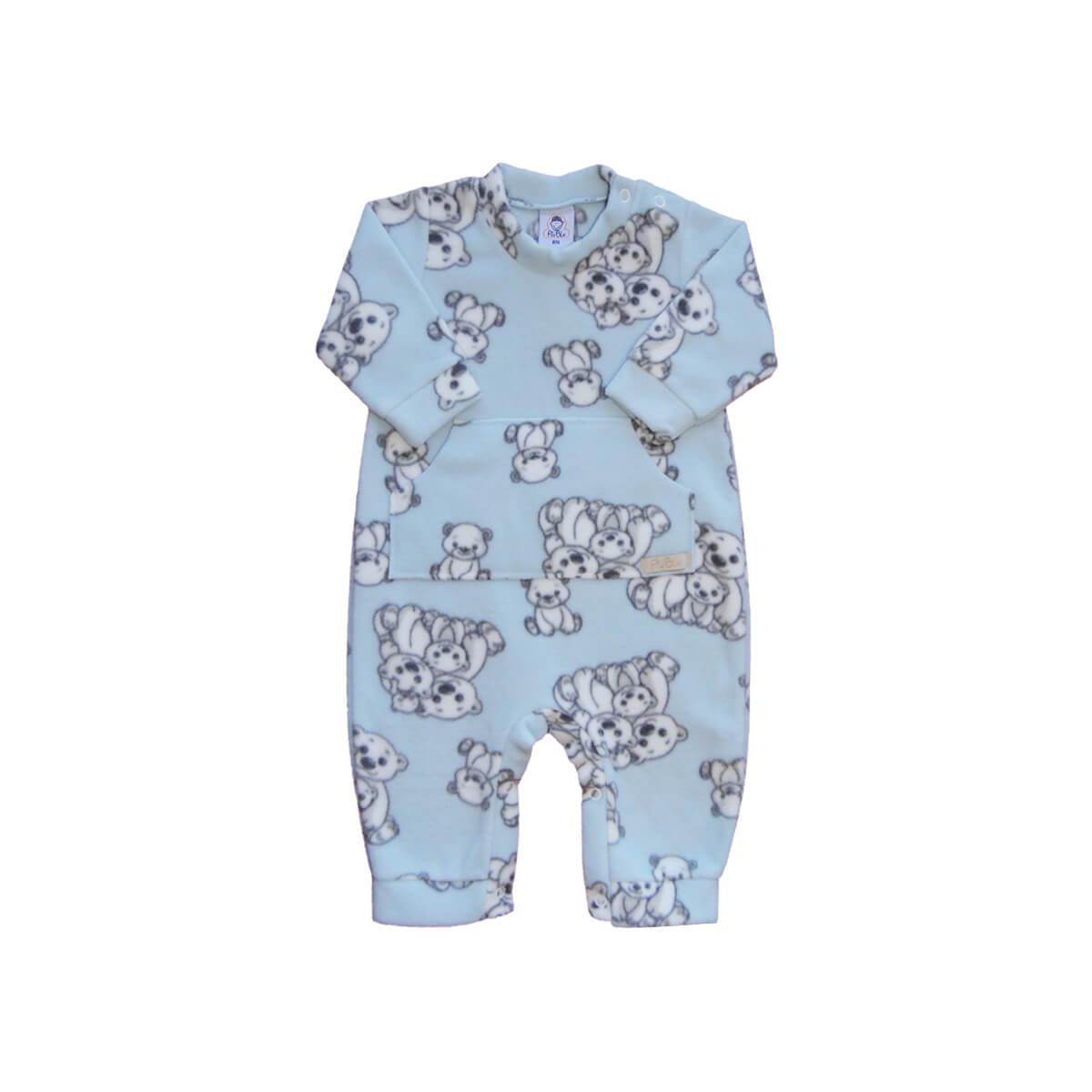 Macacão Soft Ursos Azul Soft  - Piu Blu