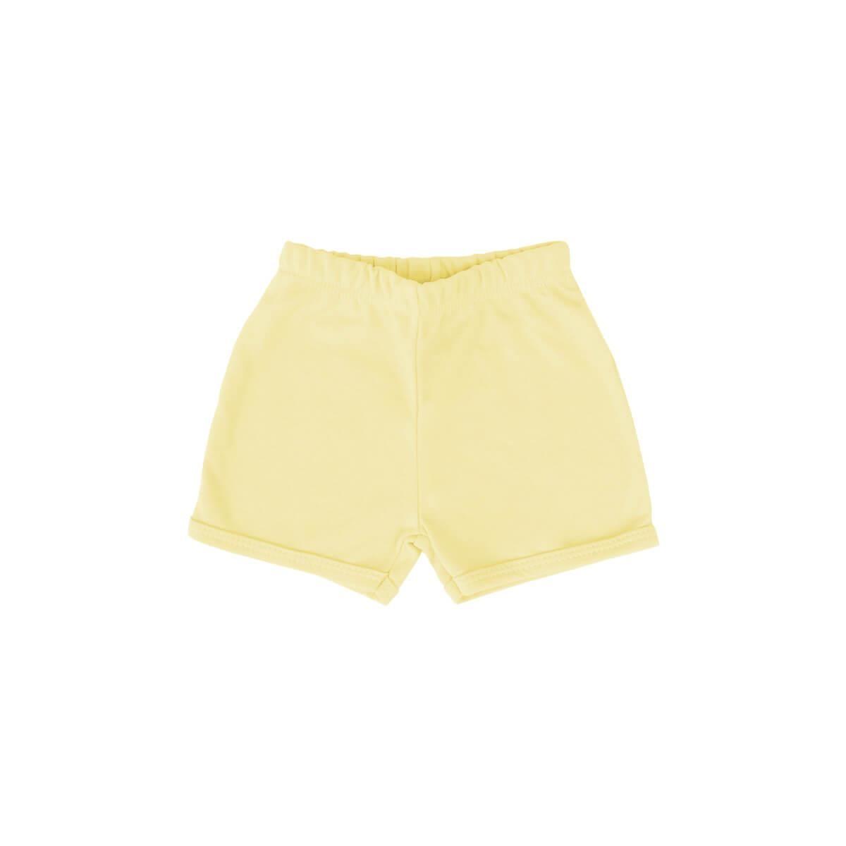 Shorts Básico Amarelo