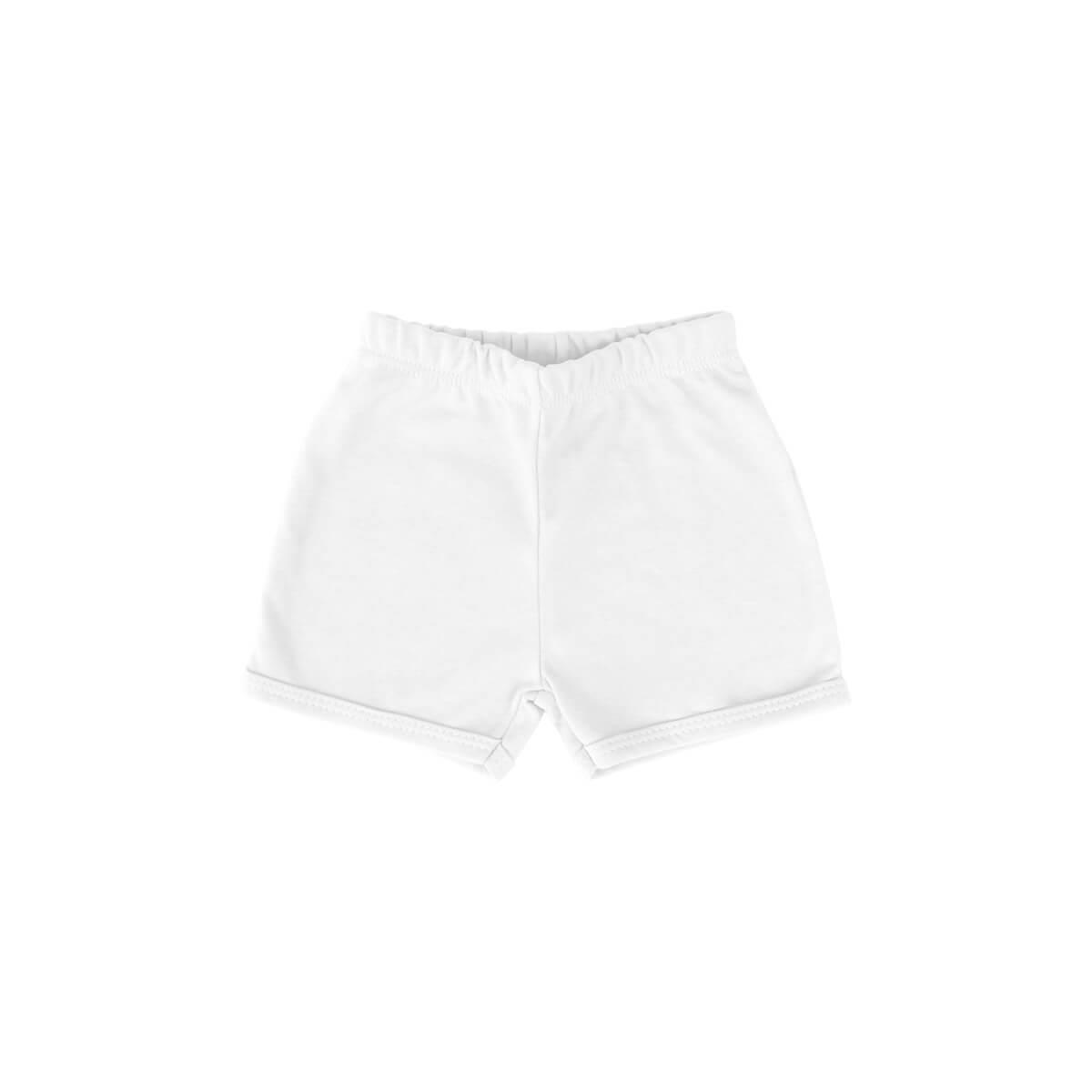 Shorts Básico Branco  - Piu Blu