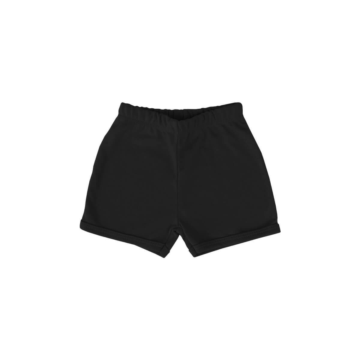 Shorts Básico Preto  - Piu Blu
