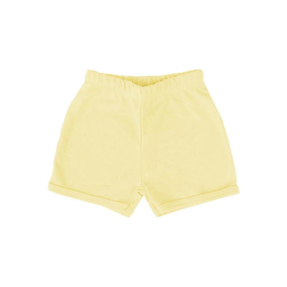 Shorts Bebê Básico Amarelo  - Piu Blu