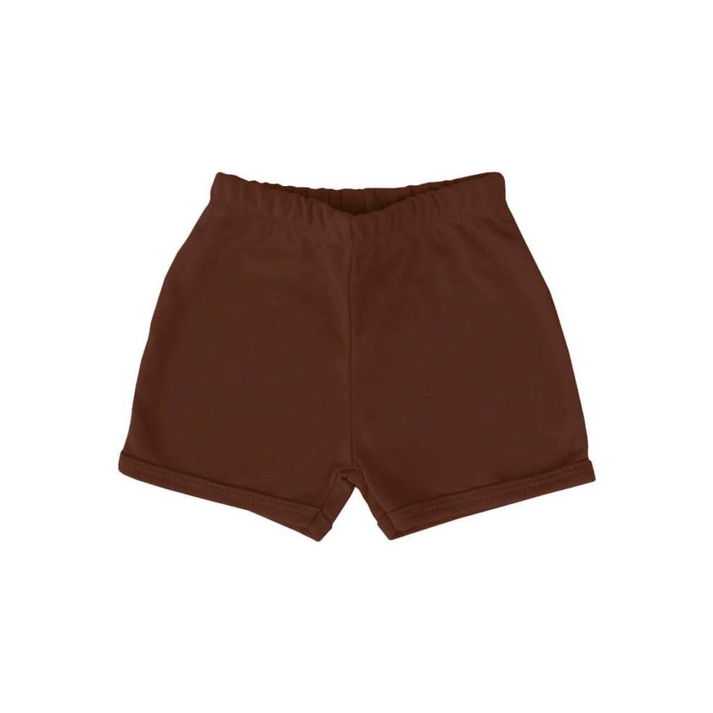 Shorts Bebê Básico Chocolate  - Piu Blu