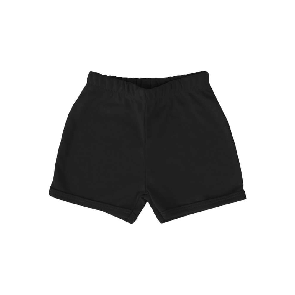 Shorts Bebê Básico Preto  - Piu Blu