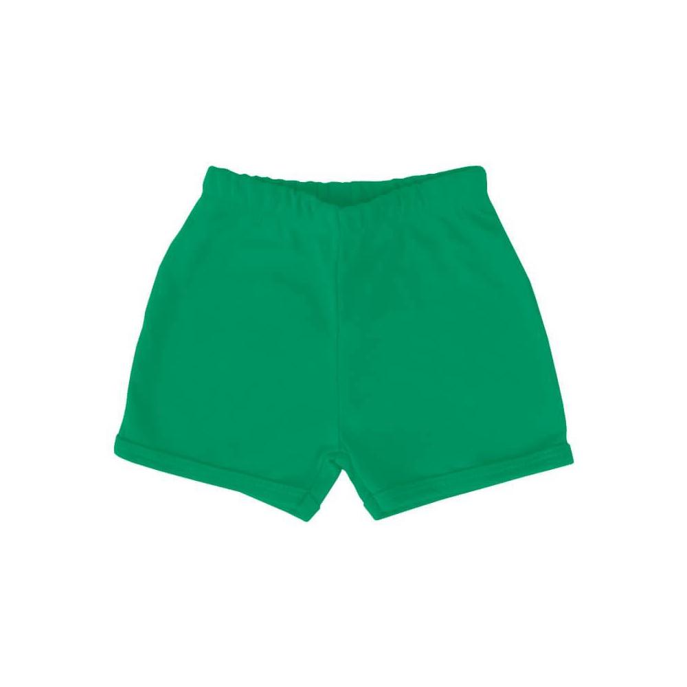 Shorts Bebê Básico Verde Bandeira  - Piu Blu