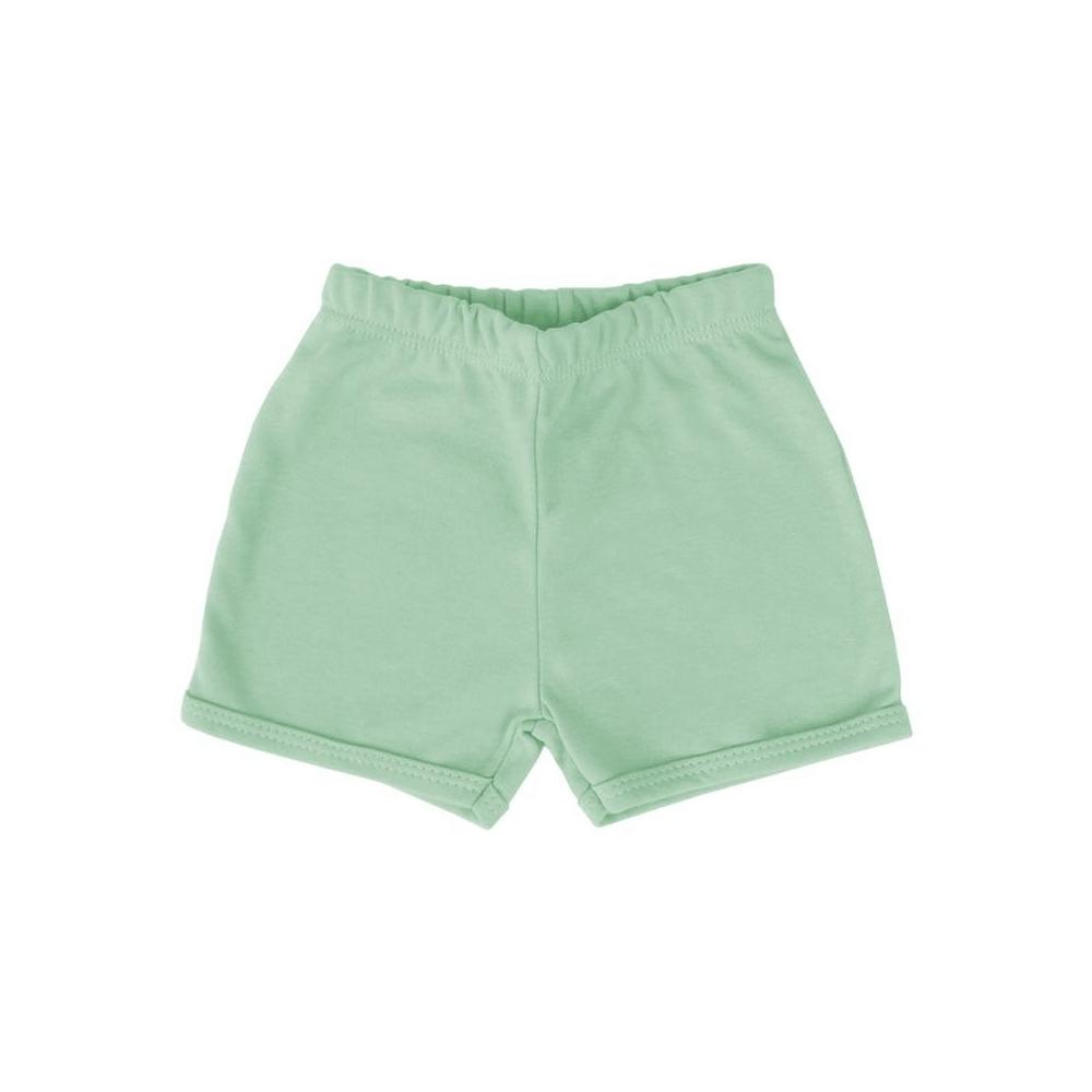 Shorts Bebê Básico Verde Claro  - Piu Blu