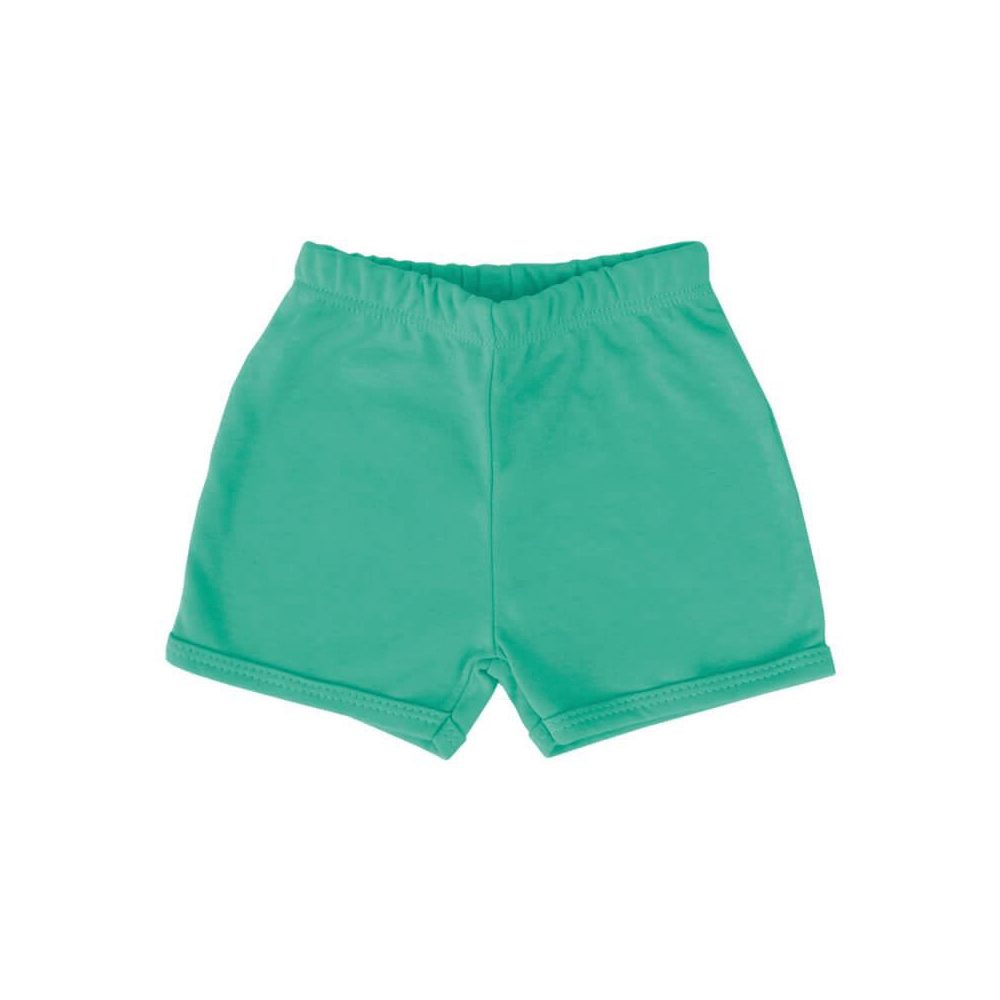 Shorts Bebê Básico Verde Primavera  - Piu Blu