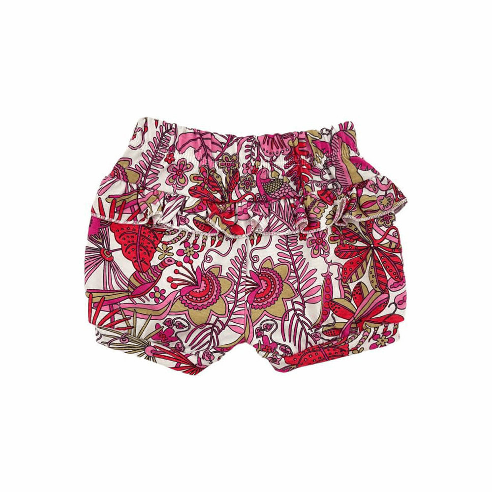 Shorts Bebê Feminino Folhas