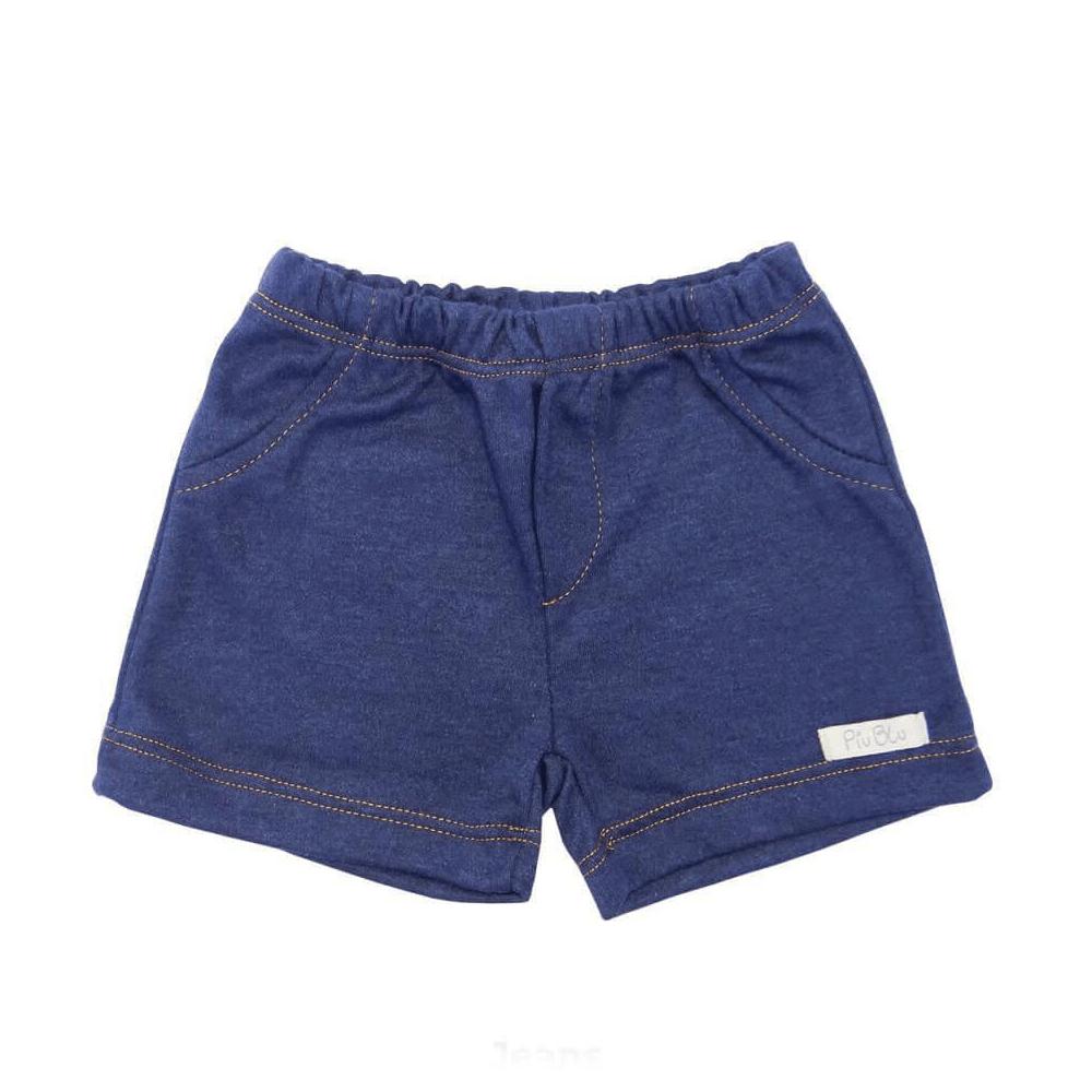 Shorts Bebê Masculino Azul Jeans  - Piu Blu