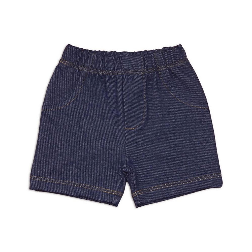 Shorts Bebê Masculino Estilo Jeans - 1 ao 3  - Piu Blu