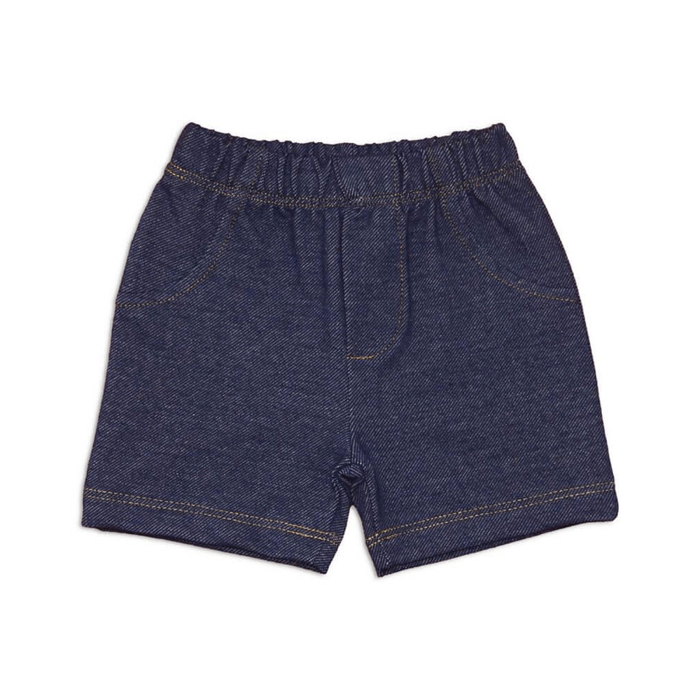 Shorts Bebê Masculino Estilo Jeans