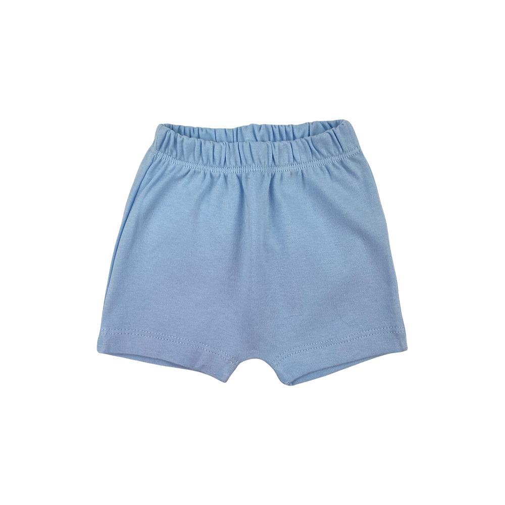 Shorts Bebê Saruel Azul Suedine