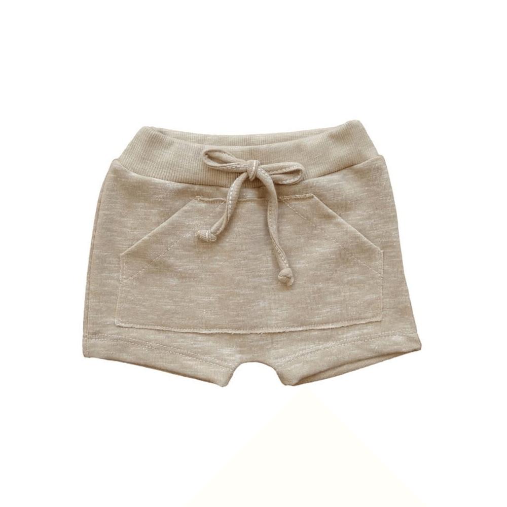 Shorts Bebê Saruel Moletinho Caramelo - 1 ao 3  - Piu Blu