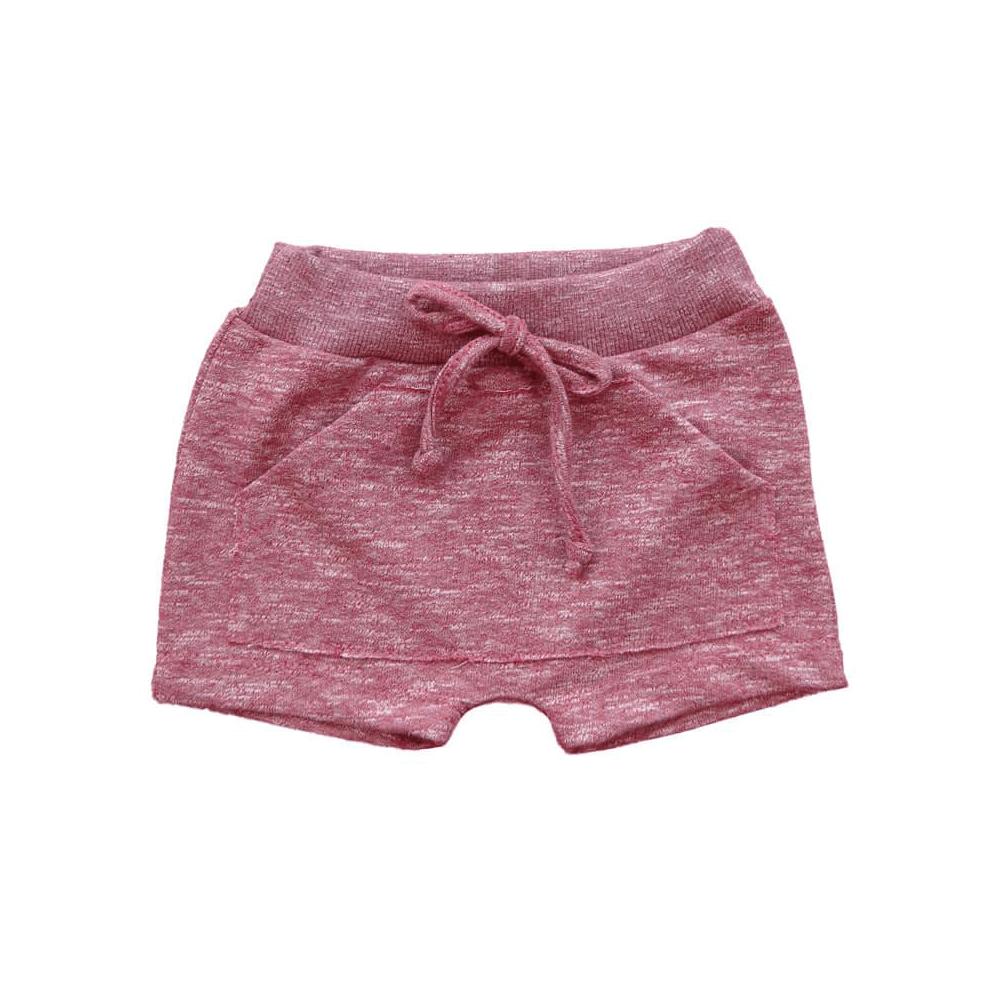 Shorts Bebê Saruel Moletinho Vermelho - 1 ao 3