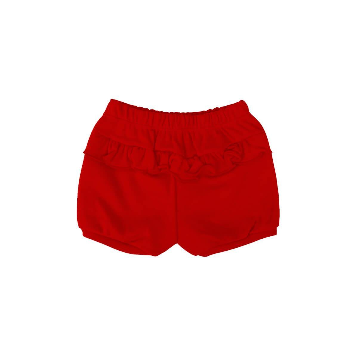 Shorts Feminino Vermelho  - Piu Blu