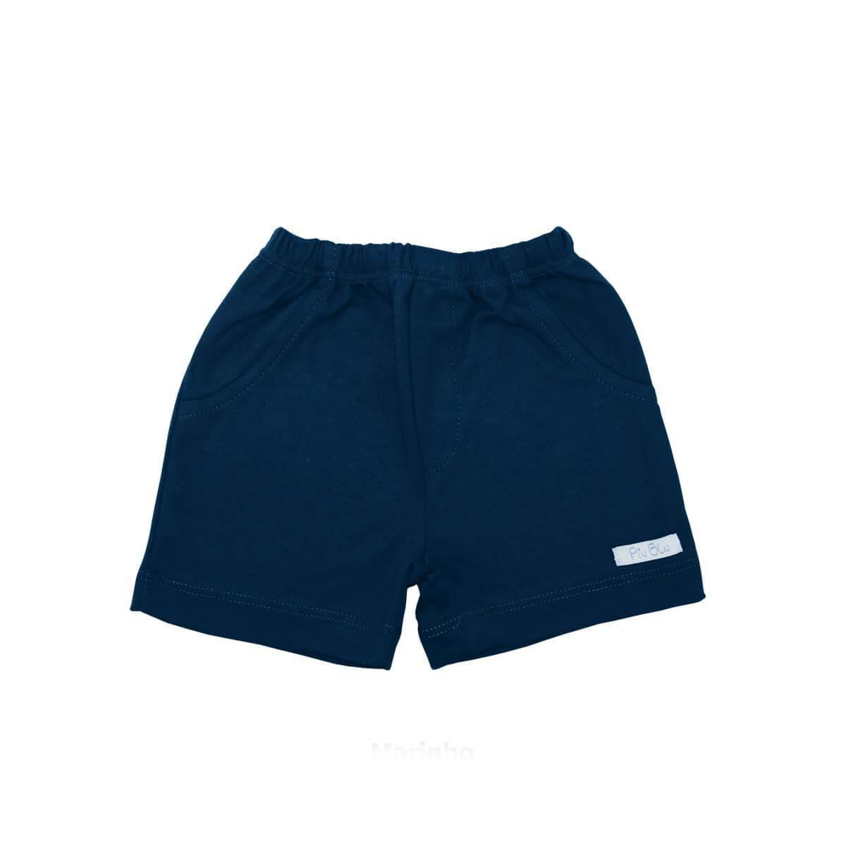 Shorts Masculino 1 ao 4 Azul Marinho