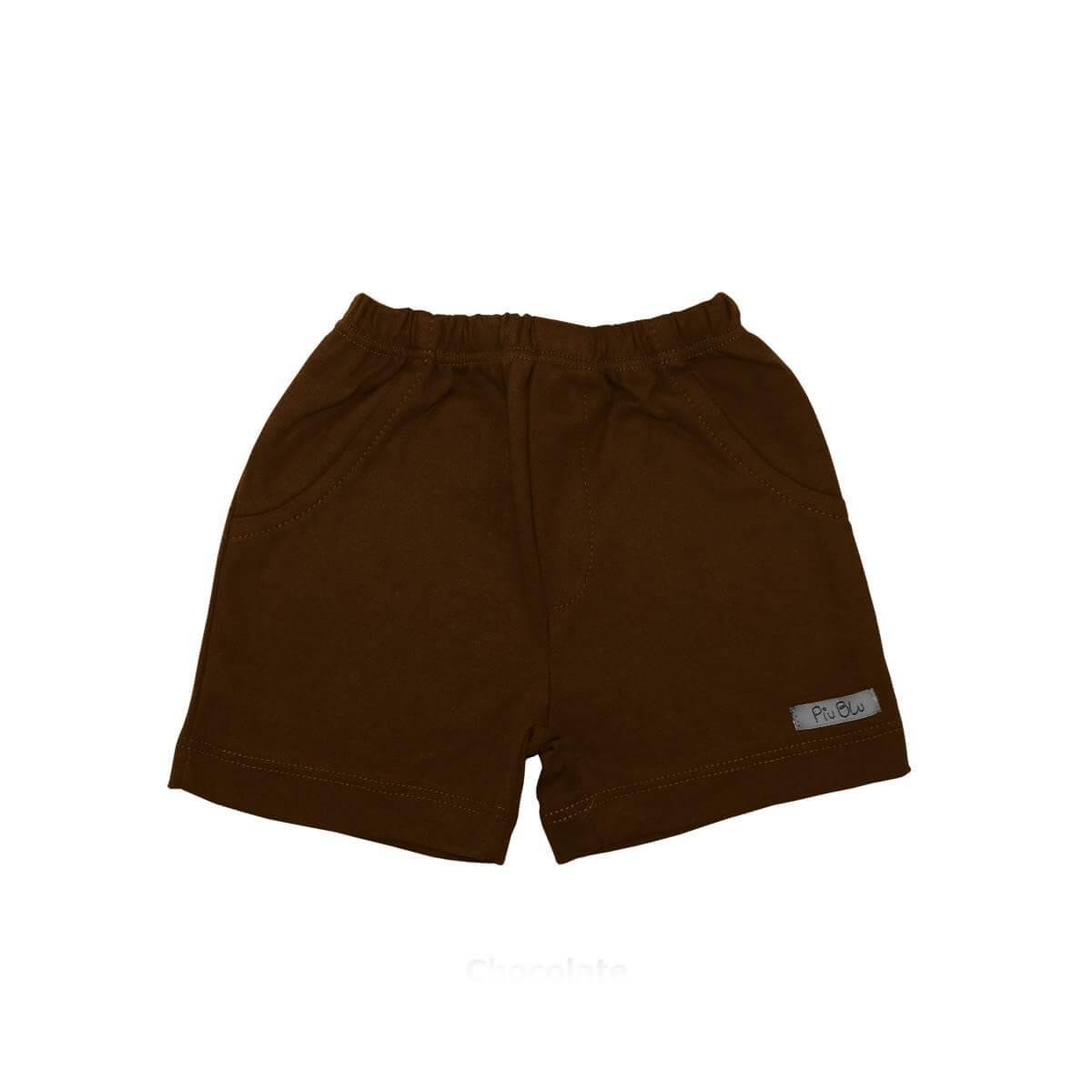 Shorts Masculino 1 ao 4 Chocolate