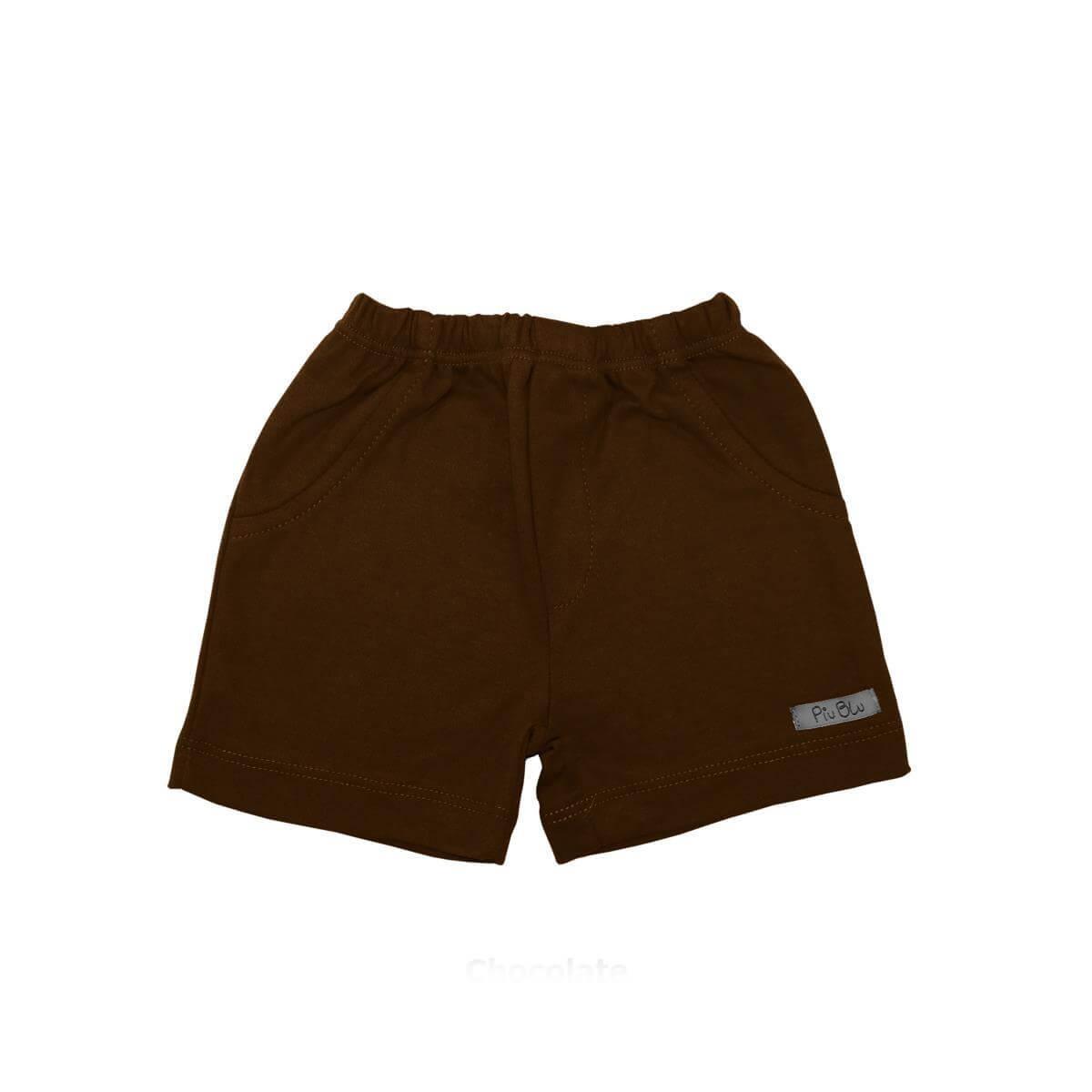 Shorts Masculino 1 ao 4 Chocolate  - Piu Blu