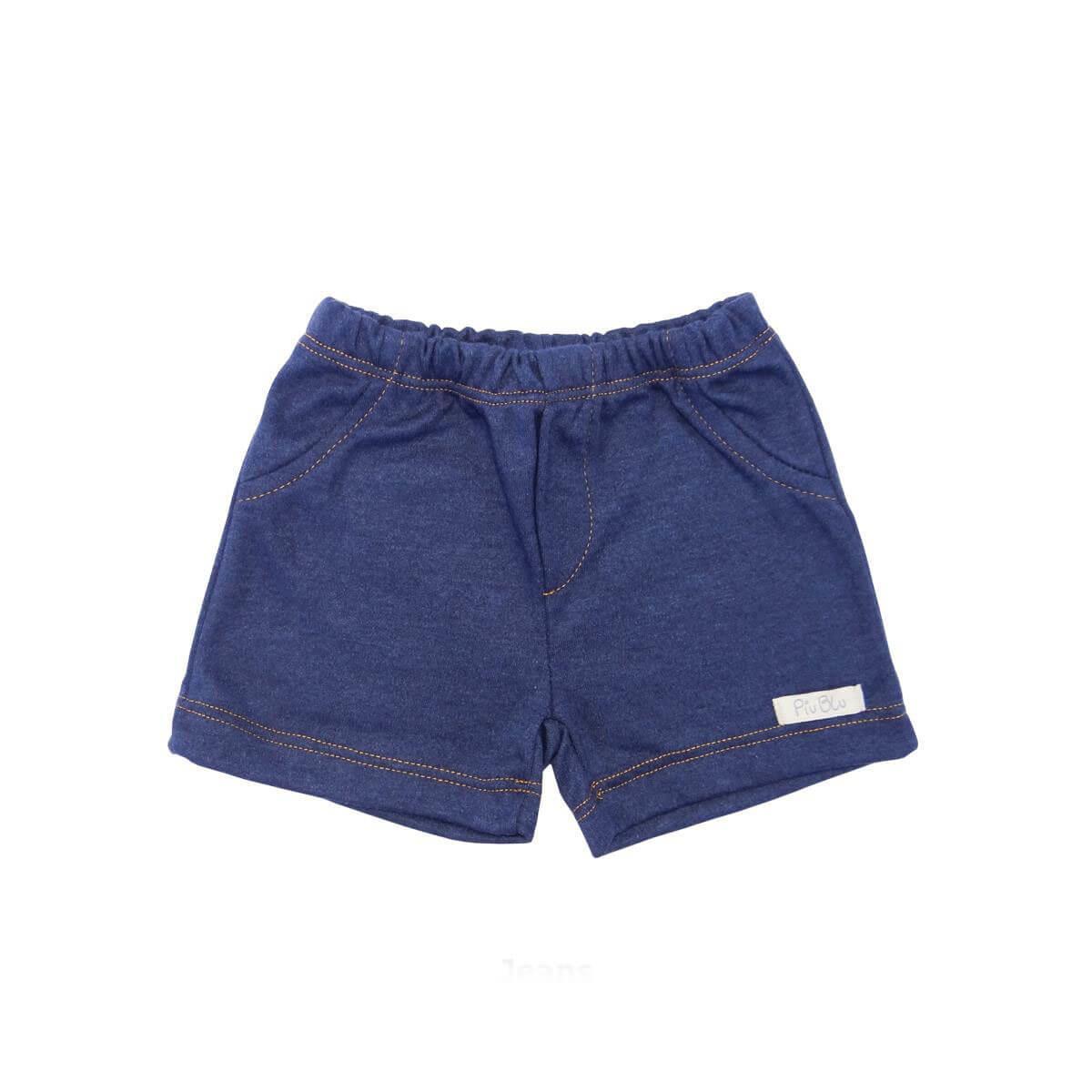 Shorts Masculino Azul Jeans  - Piu Blu