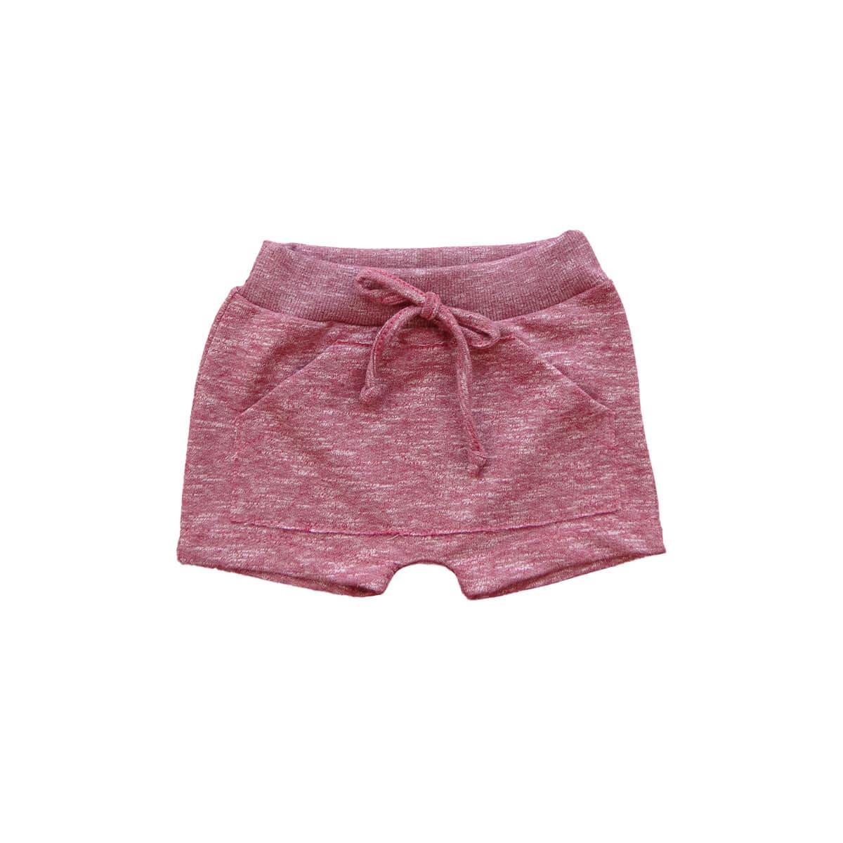 Shorts Saruel Moletinho Vermelho 1 ao 3 Moletinho