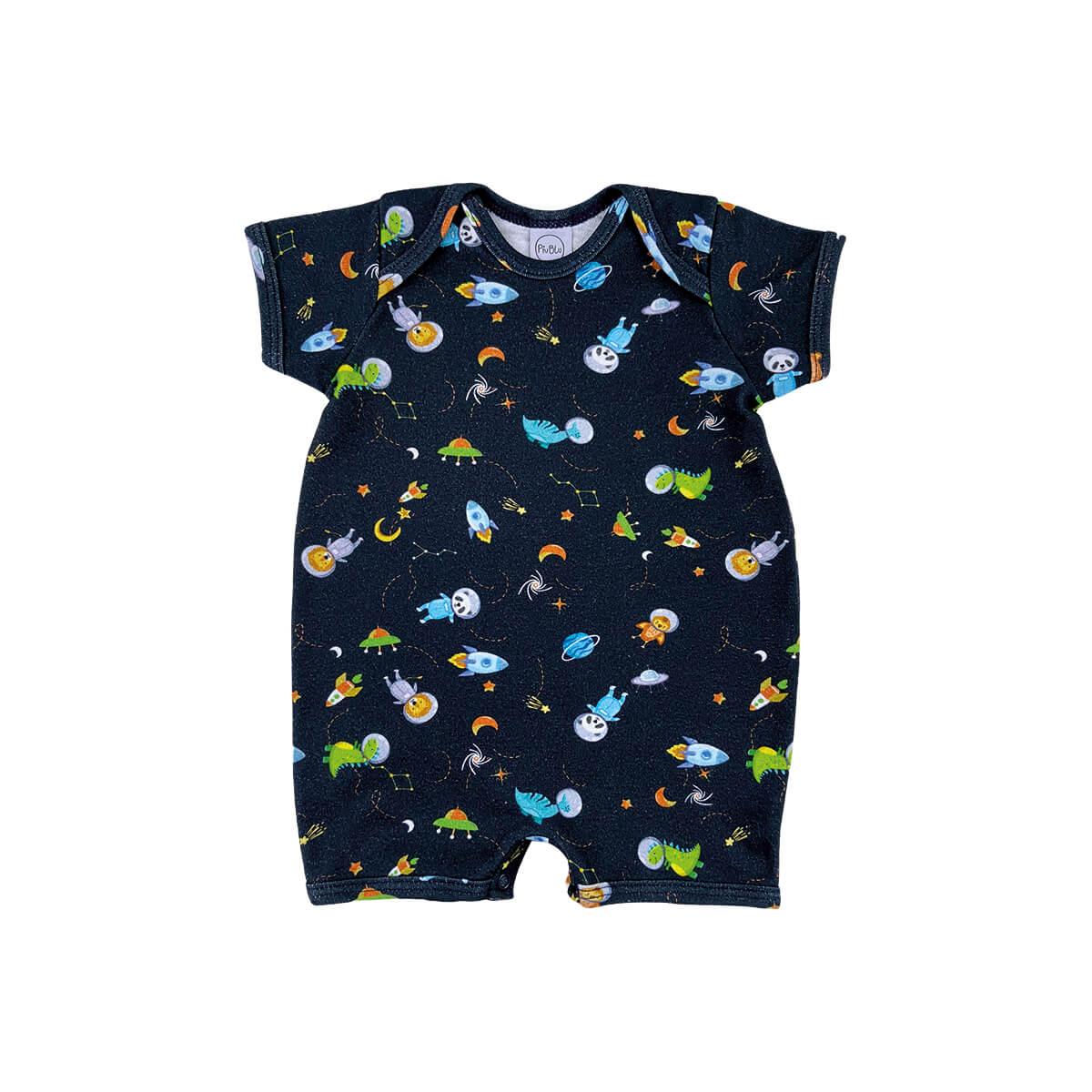 Macacão Bebê Curto Espaço