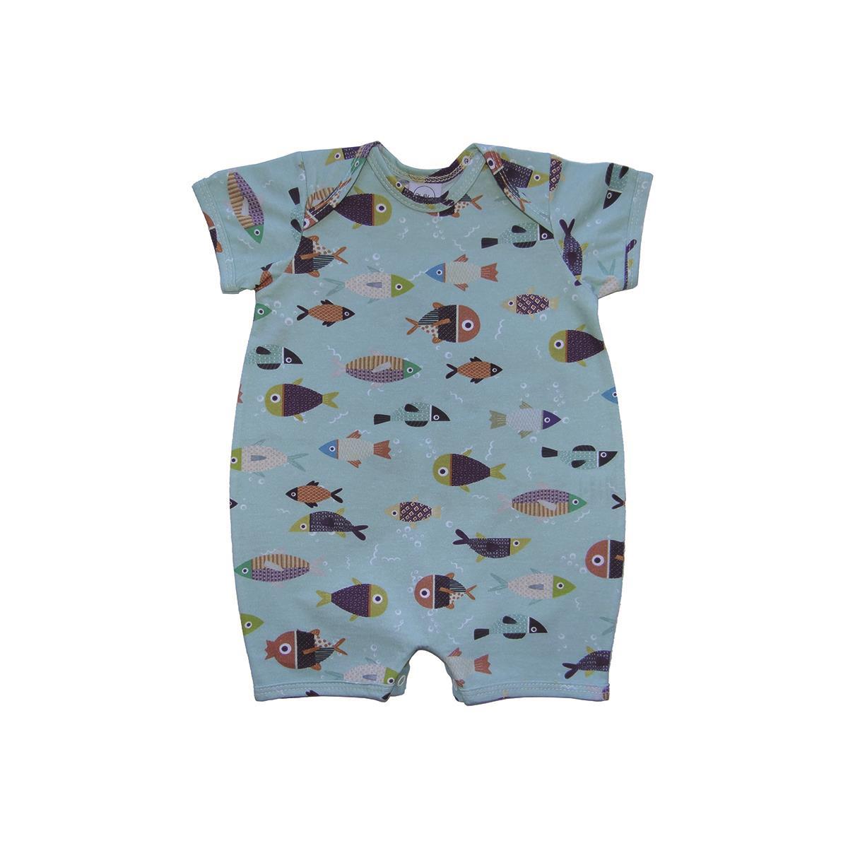 Sleeper Curto Peixinhos  - Piu Blu