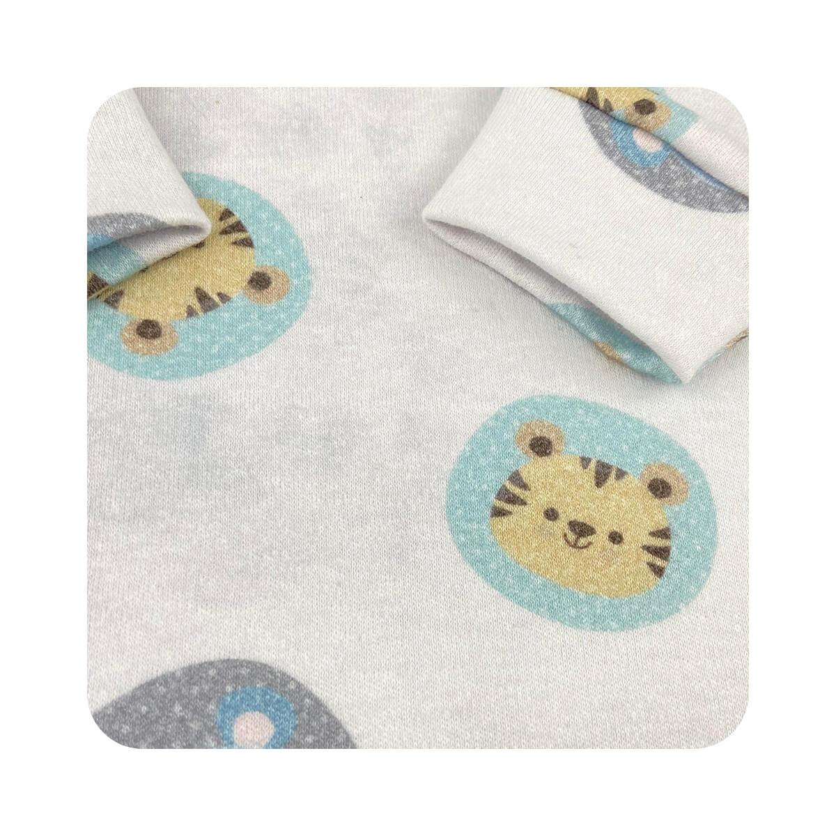 Macacão Bebê Pezinho Reversível Bichinhos  - Piu Blu