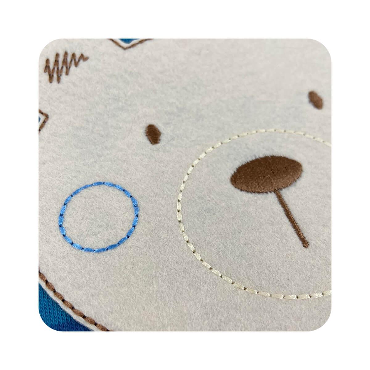 Sleeper Pezinho Reversível Listrado Ursinho Azul  - Piu Blu