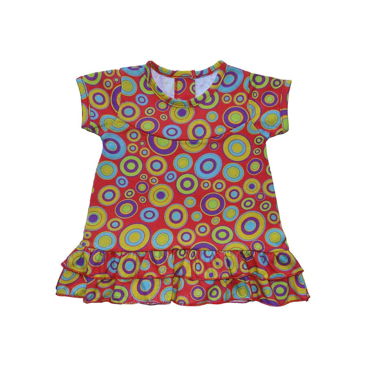 Vestido Círculos - 1 ao 3