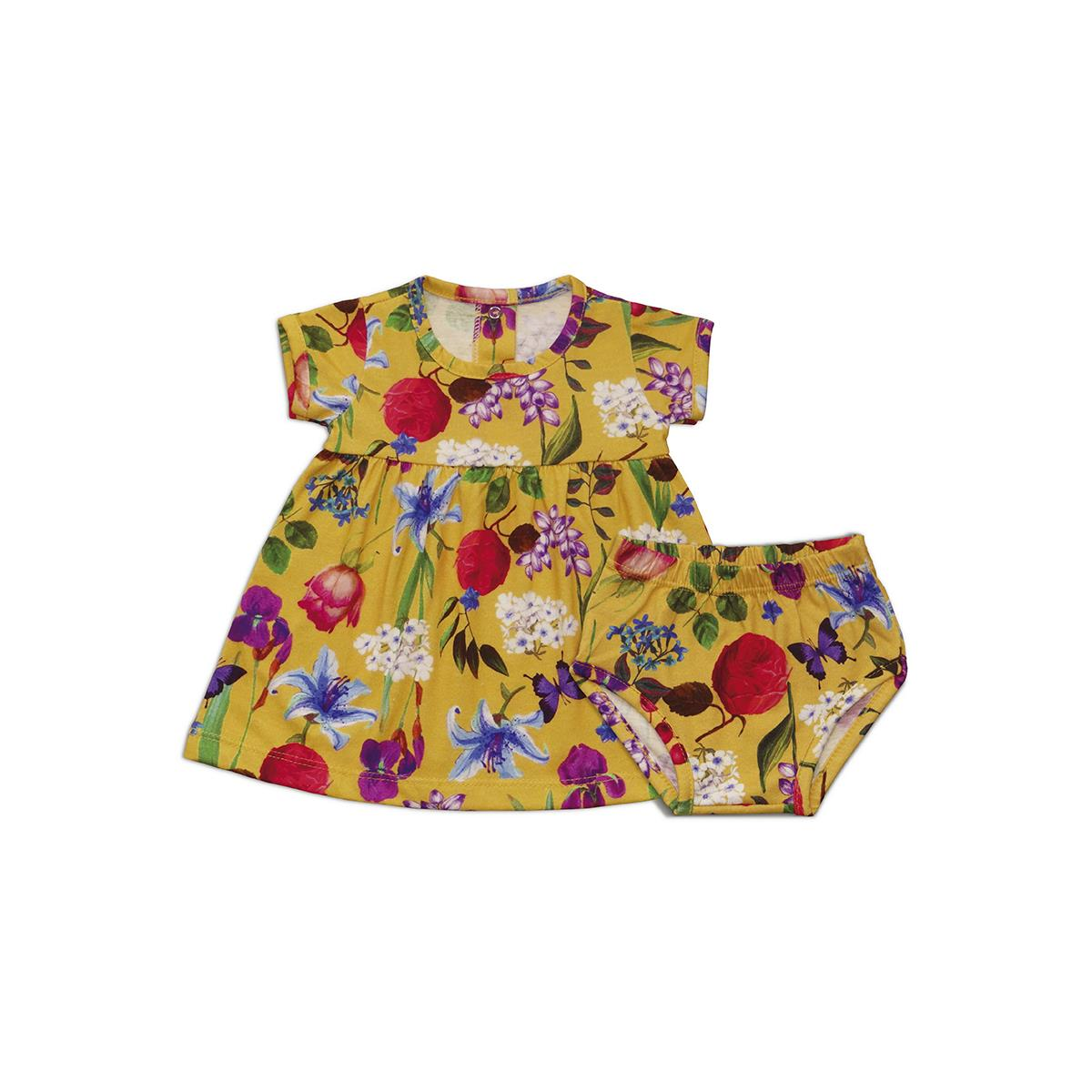 Vestido Floral Amarelo - 1 ao 3