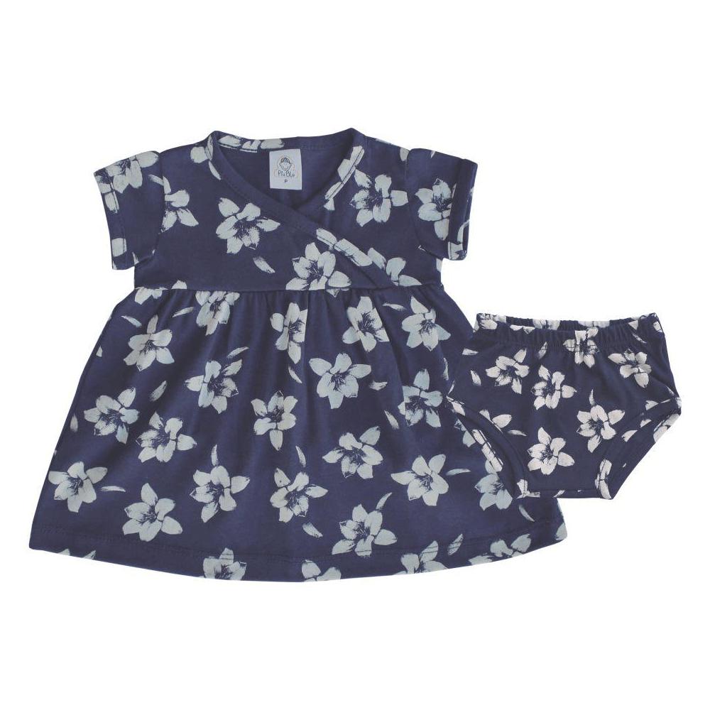 Vestido Infantil Floral  - Piu Blu