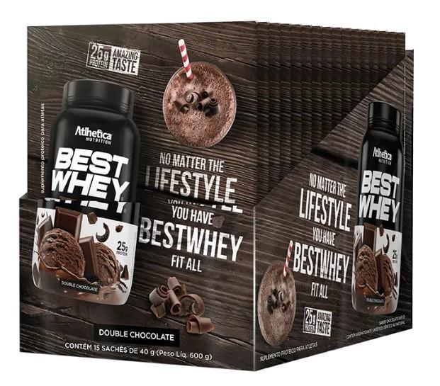 Best Whey (Dose Única) - Atlhetica Nutrition - Caixa (15 Sachês)(40g/Sachê)