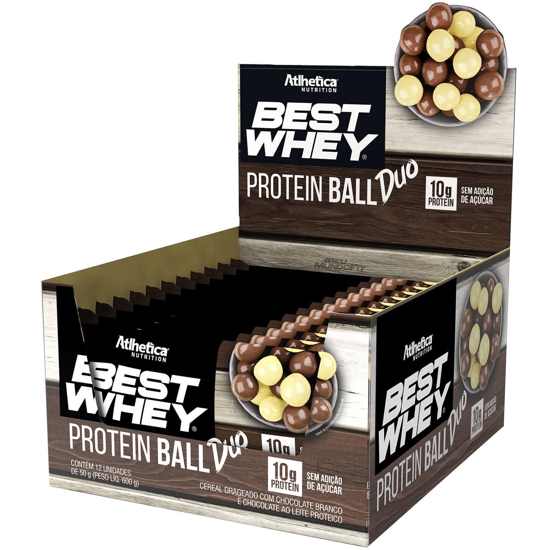 Best Whey Protein Ball - Atlhetica Nutrition - Caixa (12 Unidades)(50g/Unidade)