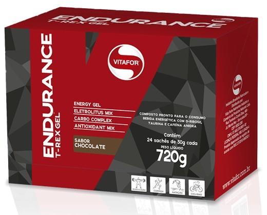 Endurance T-Rex Gel - Vitafor - Caixa (24 Unidades)(30g/Unidade)